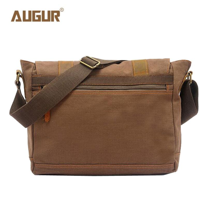 AUGUR Vintage Canvas Mens Bags School Satchel for Men Messenger Bag Casual Pattern Brand Laptop Briefcase Versatile Business Bag