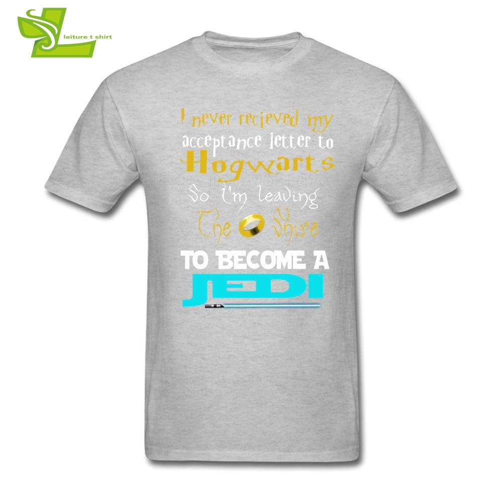 I Never Received My Acceptance Letter To Hogwarts T Shirt Guys Latest Tshirts  Jedi Star Wars T-Shirt Men's Cotton Dad Tees
