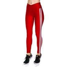 91e620f7534fa Leggings New Arrival Hot Women's Leggings Red With White Stripes Sides Print  Leggings Spring&Autumn Casual Pants