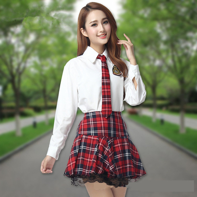 Korean School Uniform Suit Girls Performers Student -6420