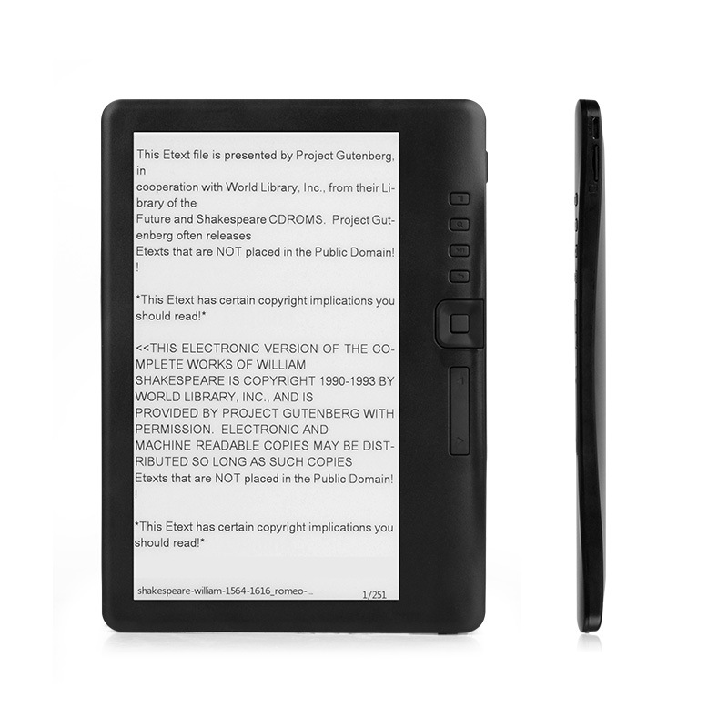 8GB Ebook reader smart with 7 inch HD screen digital E-book+Video+MP3 music player Color screen ELECTSHONG