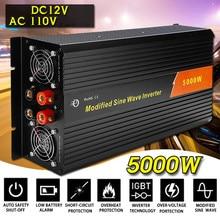KROAK inversor 12V 110V/220V 10000W picos de onda sinusoidal modificada de 5000W transformador de tensión del convertidor/inversor de potencia de carga de coche USB