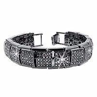 Trendy Men S Bracelet Luxury Masculine Mens CZ Diamond Iced Out Crystal Bracelets Gold Silver Plated