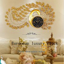 Geekcook Peacock Quartz Wall Clock European Modern Simple PersonalityCreative Living Room Decorated Bedroom Silent Wall Clock