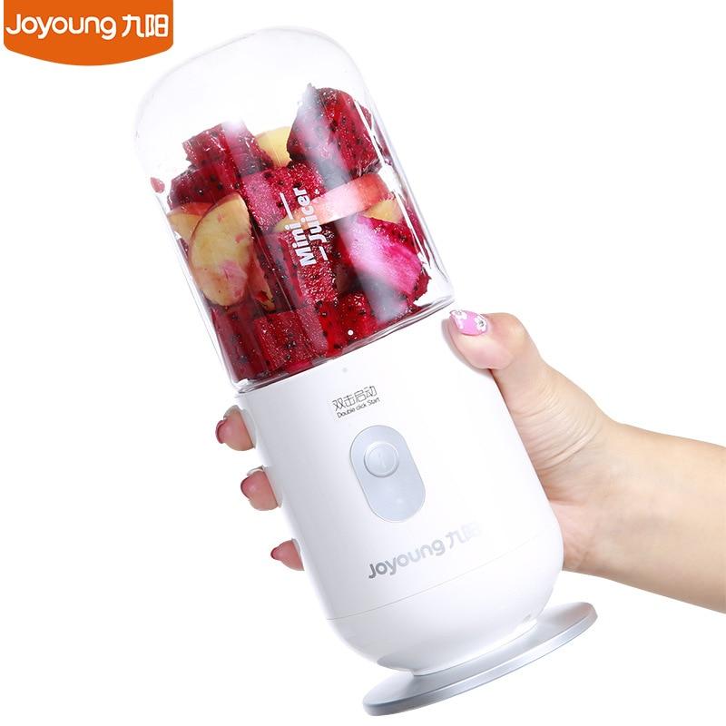 2018 New Joyoung Handhold Mini Juicer Fruit Juice Maker Ice Mixer Portable Blender Power Bank 74W new portable mini juice mixer household fully automatic vacuum preservation juicer fruit vegetables juice maker