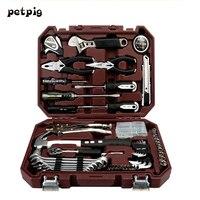Petpig 64 шт. набор инструментов для деревообработки для дома Мультитул ручной электрик набор инструментов для ремонта автомобиля электрическ