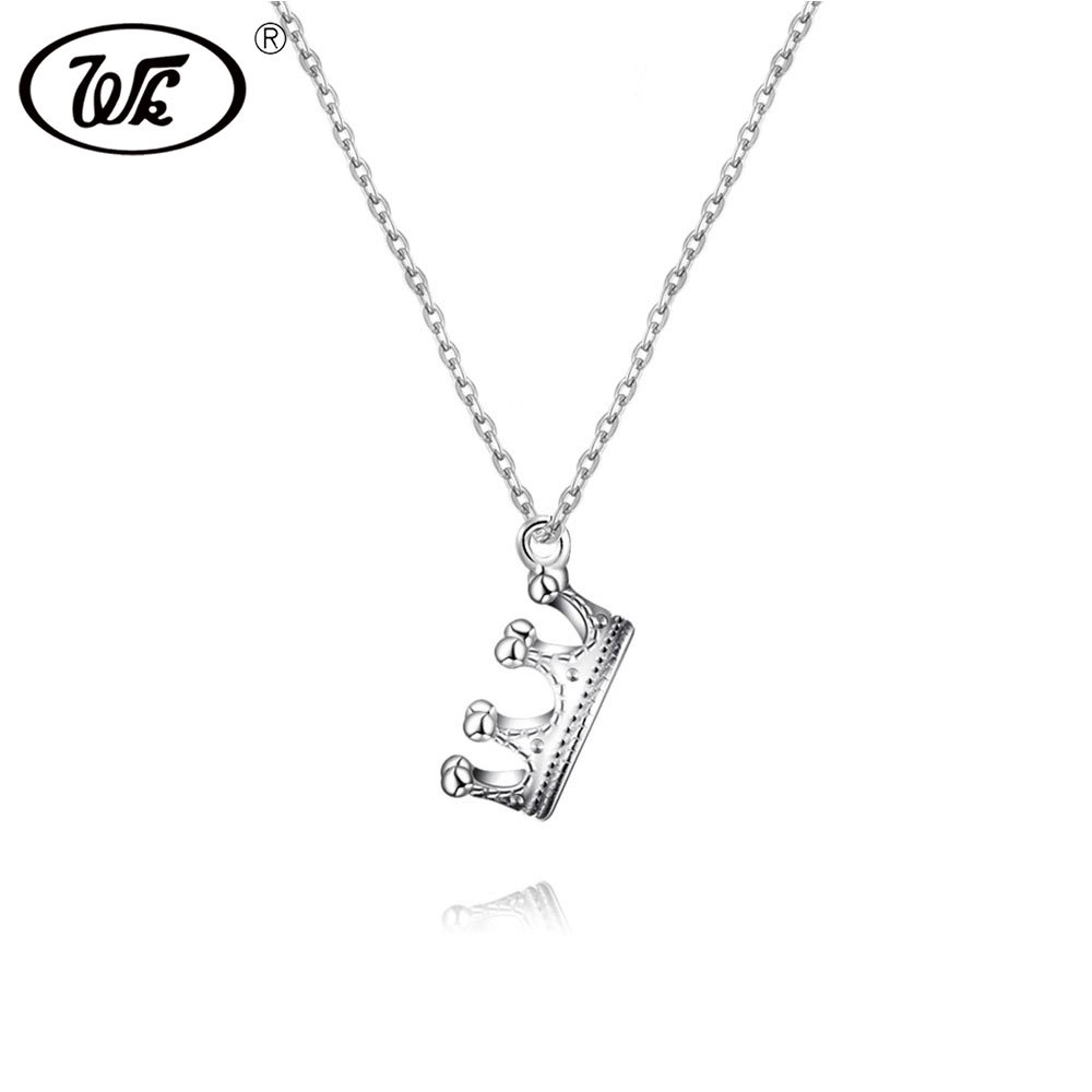Queen Imperial Crown Pendant 925 Sterling Silver Necklace Womens Jewellery Gifts