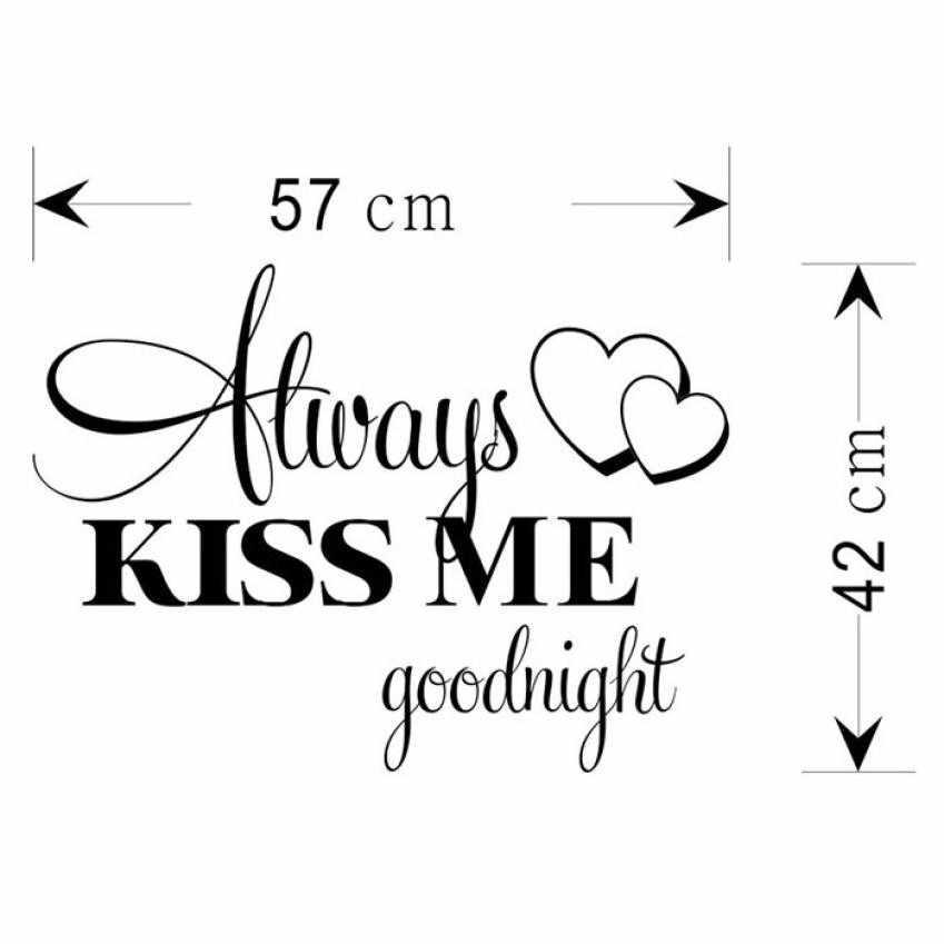 วอลล์เปเปอร์เสมอ Kiss Me Goodnight สติ๊กเกอร์ติดผนัง Decal ห้องนอนไวนิล Art Mural สติ๊กเกอร์ติดผนัง