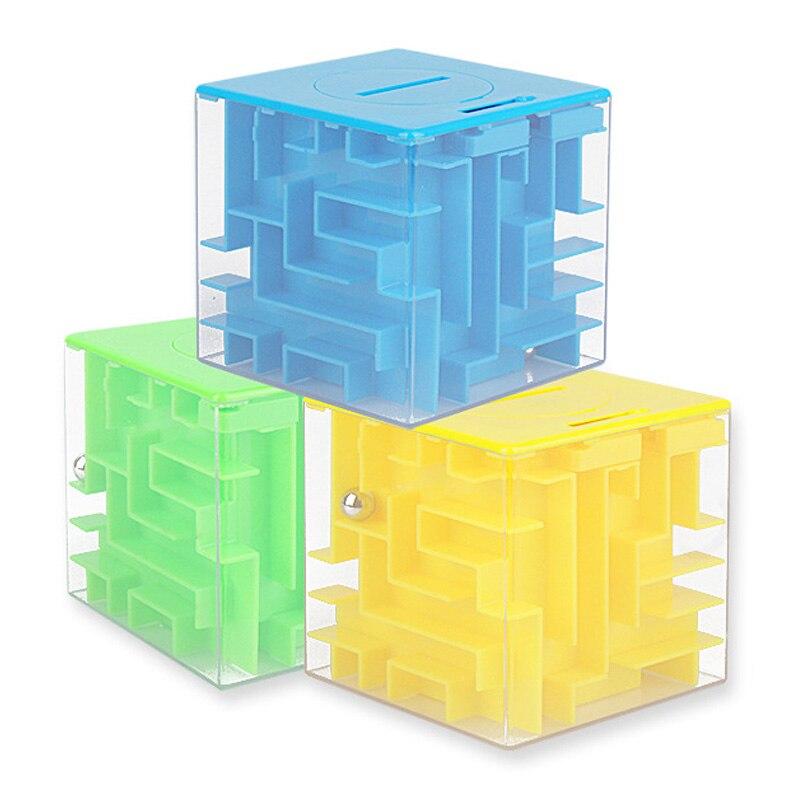 3D Mini vitesse Cube labyrinthe jouet magique enfants Cube Puzzle jeu balle apprentissage jouets labyrinthe roulement balle jouets pour enfants adulte