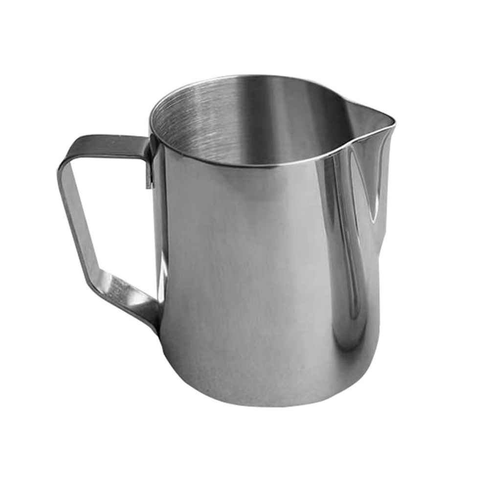 stainless steel milk frothing pitcher with volume