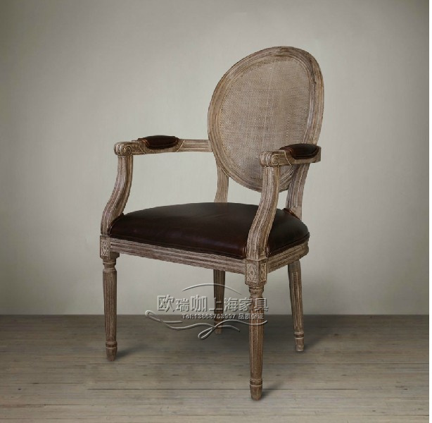 Promotional American country French dining chairs round back chair made of old wood furniture European minimalist & Promotional American country French dining chairs round back chair ...