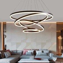 Современный светодиодный кольцевой светильник для люстры, потолочный светодиодный светильник для гостиной, столовой, кухни, спальни