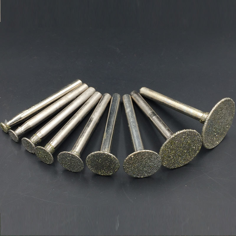 6mm Shank Nailhead Diamond Grinding Bits Jade Granite Carving Grinding Head Stone Lettering Tools Agate Carving Engraving стоимость