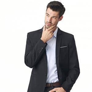 Image 5 - FGKKS New Arrival Fashion Blazer męska casualowa kurtka solidna kolorowa bawełniana męska żakiet z dzianiny dresowej męska klasyczna męska marynarka płaszcze