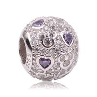 AIFEILI Newest DIY Fit Original Pandora Charms Bracelet 925 Sterling Silver Mickey Love Fashion Charms Beads