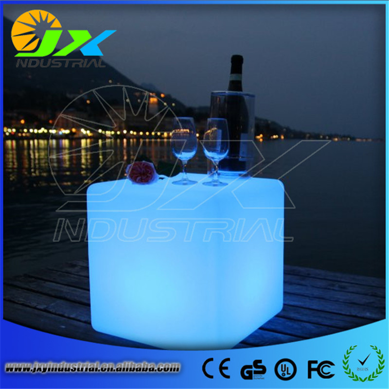 free shipping 40cm LED cube chair for outdoor party/Led Glow Cube Stools Led Luminous Light Bar Stool Color Changeable