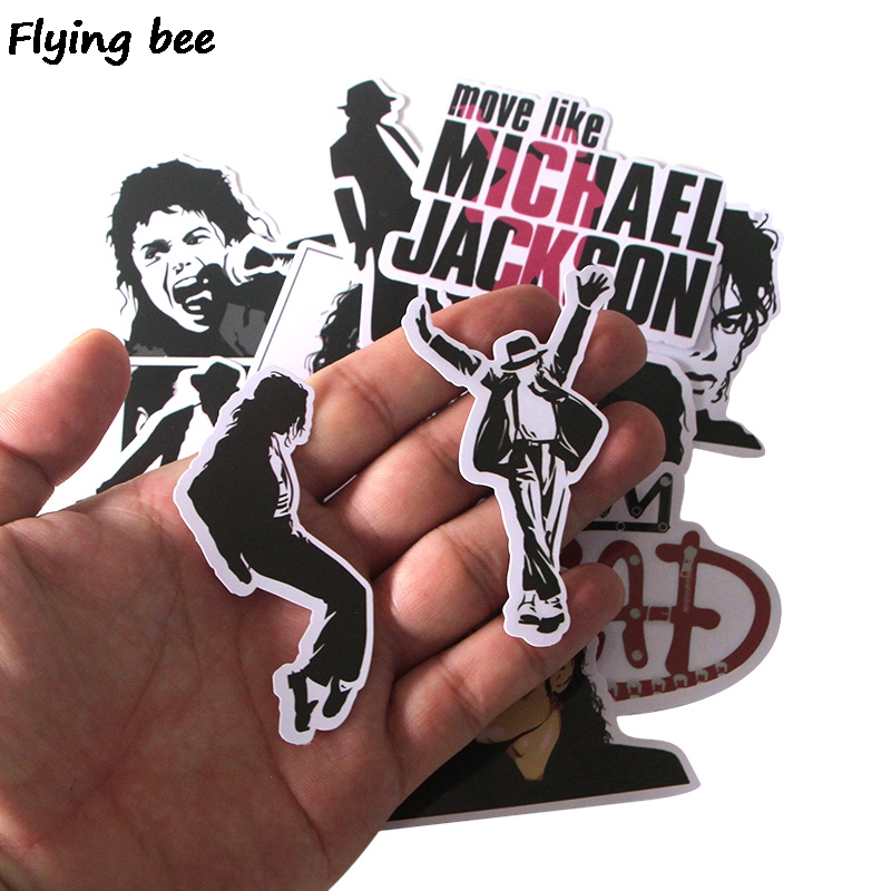 Image 5 - Flyingbee 16 Pcs Rock King Punky Stickers Graffiti waterproof skateboard suitcase laptop sticker Decals X0279-in Stickers from Consumer Electronics