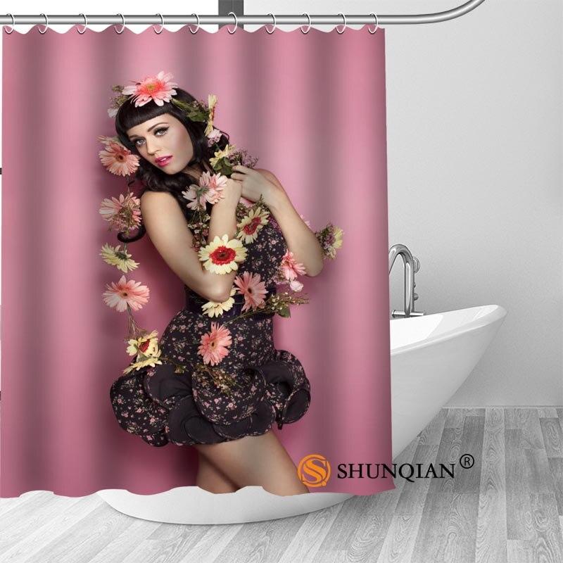 High Quality Custom Katy Perry Shower Curtains Polyester Bathroom Curtains With Hook Bath Curtain Bathroom Decor