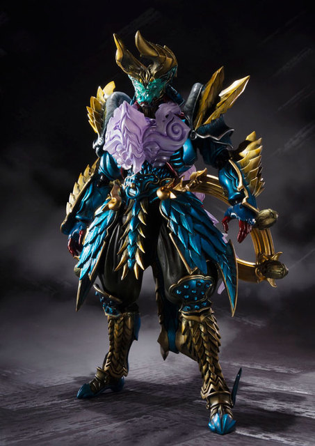 "Original BANDAI Tamashii Nations S.H.Figuarts (SHF) Tamashii MIX Action Figure - Jashin Kakusei Zinogre from ""Monster Hunter"" 1"