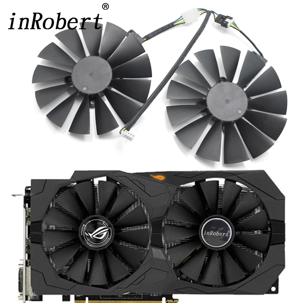 New 95mm CPU Cooler Fan Replace For ASUS GTX 1050 ti GTX 1080Ti 1070Ti RX 470 570 580 4G GAMING Graphics Video Card Cooling Fans free shipping radiator computer cooler fan cooling msi gtx980 gtx 970 gaming video vga graphics card