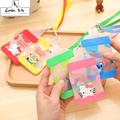 Kawaii 8 Colors Hello Kitty - 12CM Bottle Shape Silicone BUS & ID Card Holder Case ; Cards Case Pouch BAG Holder Holder