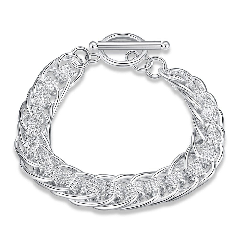 Inexpensive Charm Bracelets: Silver Plated Bracelet & Bangle Cheap Charm Linked
