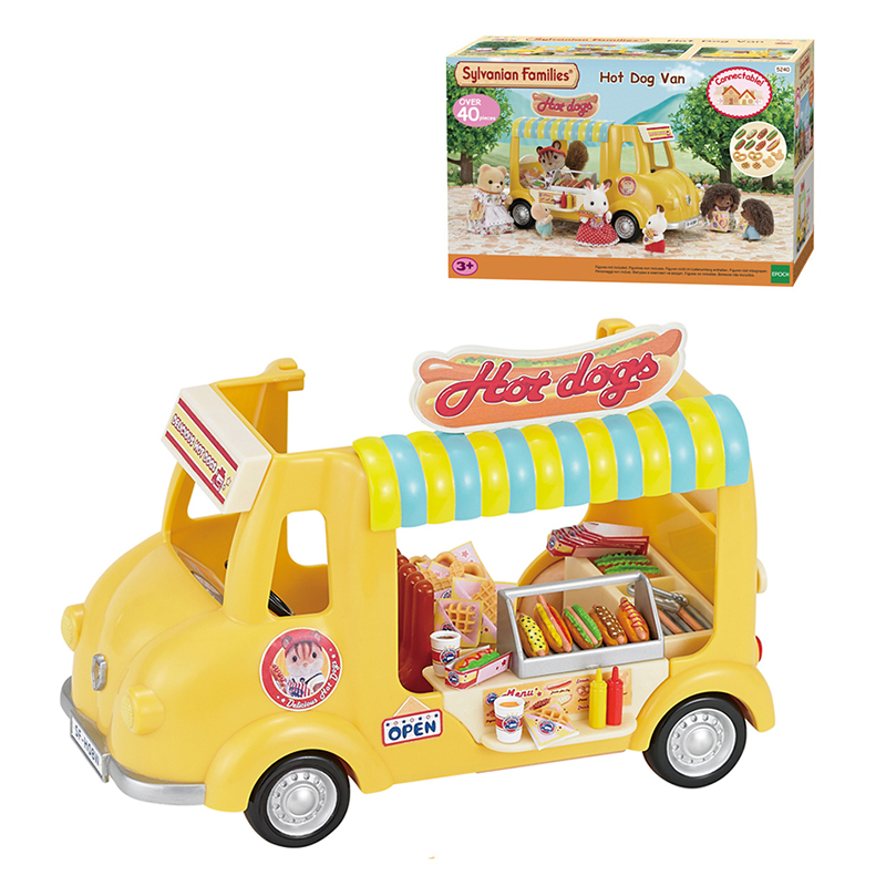 Sylvanian Families Dollhouse Hot Dog Van Car Scene Accessories Playset Girl Kids Gift #5240 New-in Housekeeping Toys from Toys & Hobbies    1
