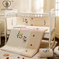 Baby bedding set Crib bedding set Cot bedding set 5 item Embroidery little horse 100% cotton Pillow Bumper Bed sheet Baby quilt