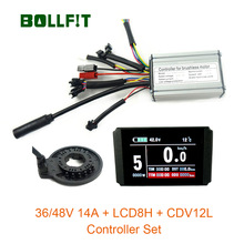 Waterproof Controller Hall-Sensor E-Bike-Conversion-Kit Color-Display 250W 36V LCD8 48V
