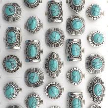 Регулируемые кольца с полудрагоценными камнями в винтажном стиле