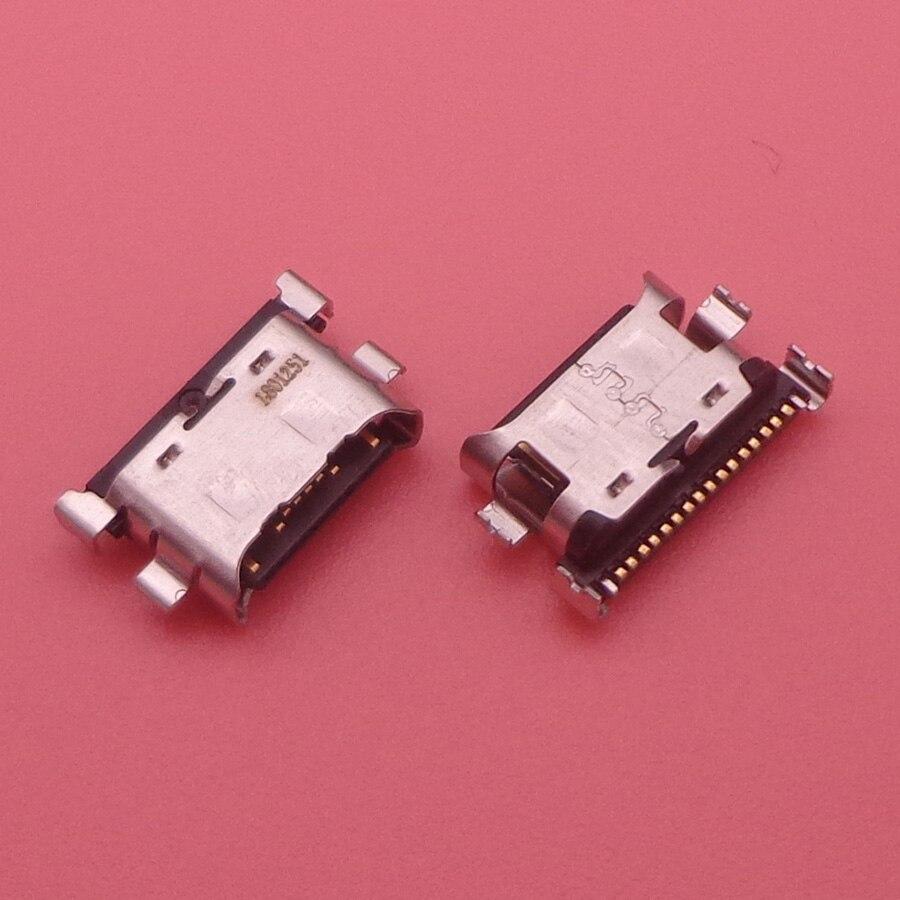 100 قطعة/الوحدة شاحن مايكرو USB منفذ شحن حوض موصل المقبس لسامسونج غالاكسي A70 A60 A50 A40 A30 A20 A405 A305 A505 A705كابلات مرنة للهاتف المحمولالهواتف المحمولة ووسائل الاتصالات -