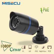 MISECU HD POE 1080 P 2.0MP IP POE Камера 48 VPoE Питания Over Ethernet Из/в Помещении ABS Водонепроницаемый Ночного Видения P2P ONVIF ВИДЕОНАБЛЮДЕНИЯ XMEye