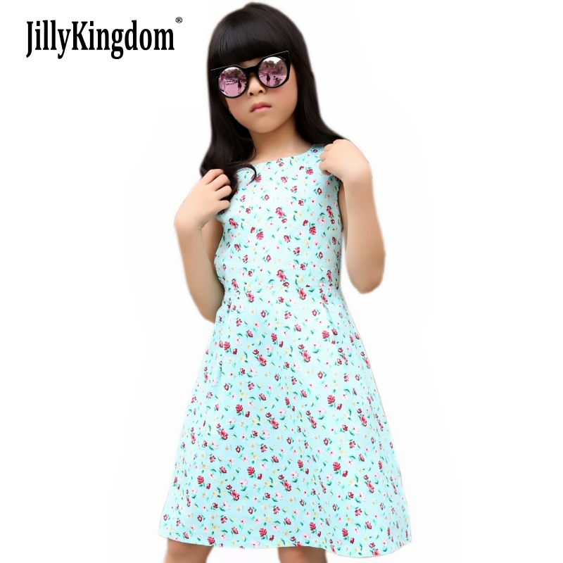 2019 Summer girl dress Style New Fashion Girl Sukienki dziecięce Baby Kids Odzież Odzież Casual Girl Dresses Vestidos Cotton