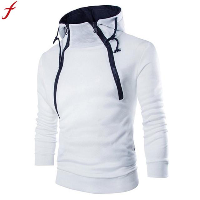 24c45b42 sweatshirt men 2018 hoodies brand male long sleeve patchwork hoodie zipper  hoodie men white and black big size vetements