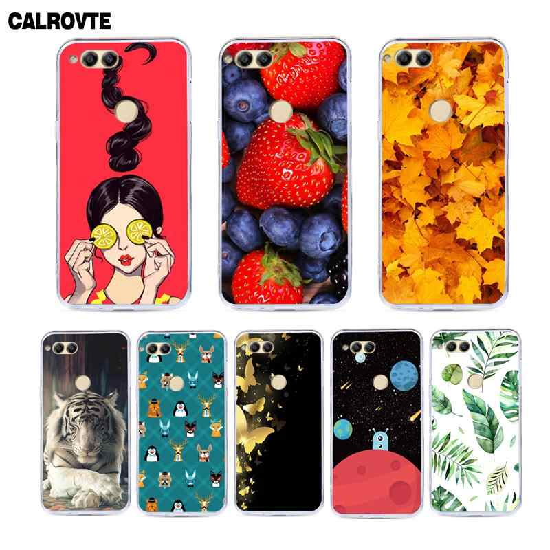 CALROVTE Patterned TPU Phone Cover For Huawei Honor 7X Case Huawei Mate SE Soft Silicone Honor7X BND-L21 Floral Leaves Cases