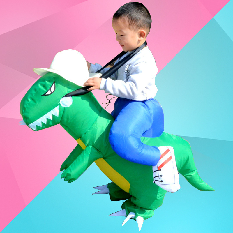 Child Toy Dinosaur Party Cosplay Halloween Inflatable Costume Clothing Mascot Cosplay Unisex Outdoor
