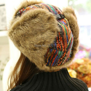 Image 5 - 2017 Winter Warm Trapper Hat Earflap Earmuffs Caps Winter Women Aviator Hat Thicken Ear Protection Bomber Hat Colored Bomber