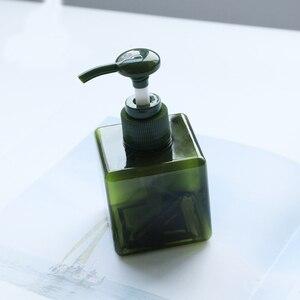 Image 5 - 1 adet kare şişe 150ml losyon şişesi büyük kapasiteli presleme duş jeli şampuan şişesi kozmetik dağıtım şişe BQ024