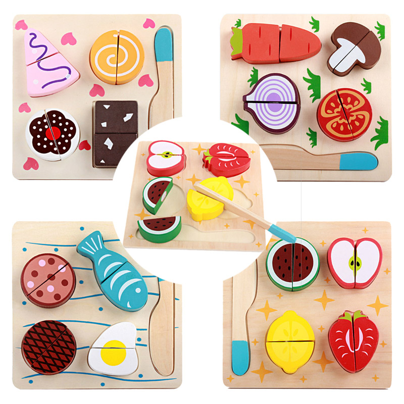 Ice Cream #2 Hard-Working Magnet Cut Toy Magnetic Wooden Food Assemble Toys Educational Child Gift Home