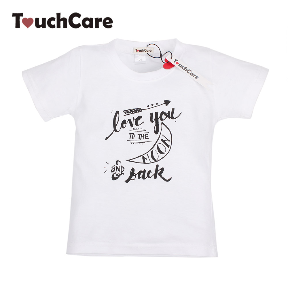 Infant Soft Cotton Baby Boy Girl T-shirt Short Sleeve Letters Printed Toddler Tees O-Neck Casual Unisex T Shirts Kids Clothes