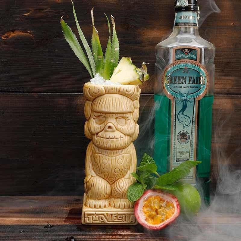 Indian Retro Hawaii Style 3D Ceramic God Statue Cold Drink Cocktail Tiki Mug Beach Bar Skull Head Wine Glass TIKIMUG Doom Cups