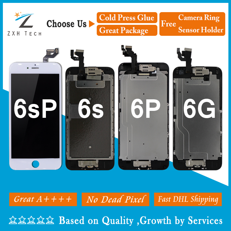 10PCS LOT Great A Quality For iPhone 6G LCD 6 plus 6s 6s plus LCD