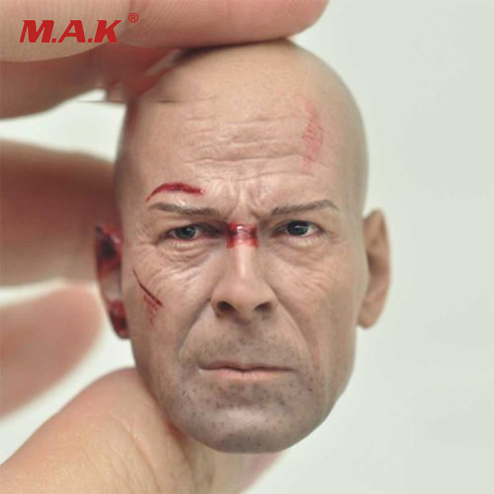 1/6 Bruce Willis Die Hard Male Head Sculpt For 12 Figures die shi spot burning the soul of a model burns 1 6 head carved figures are base contains mask