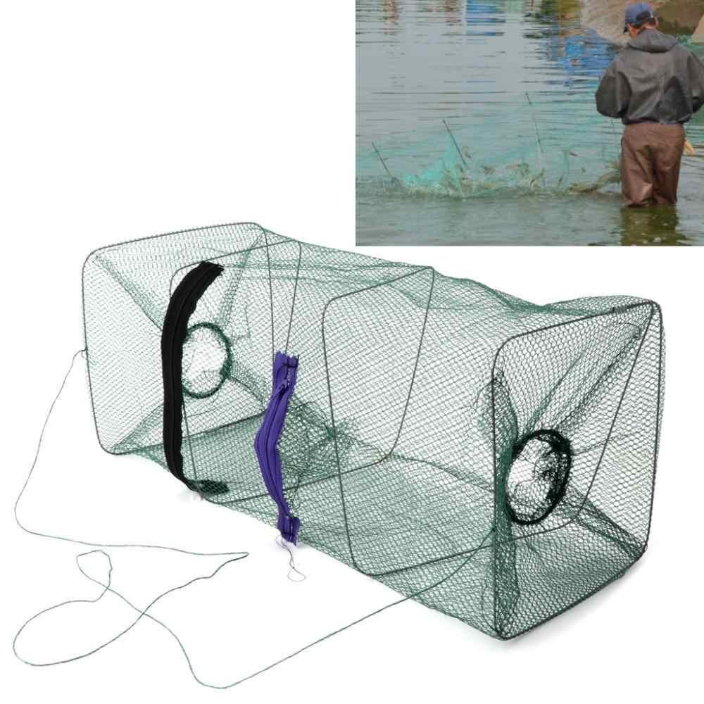 1pcs Nylon Isca De Pesca Armadilha Gaiola Net Gaiola Rede De Pesca de Alta Qualidade Dobrável para Crawdad Minnow Camarão peixe Dip caranguejo Acessórios