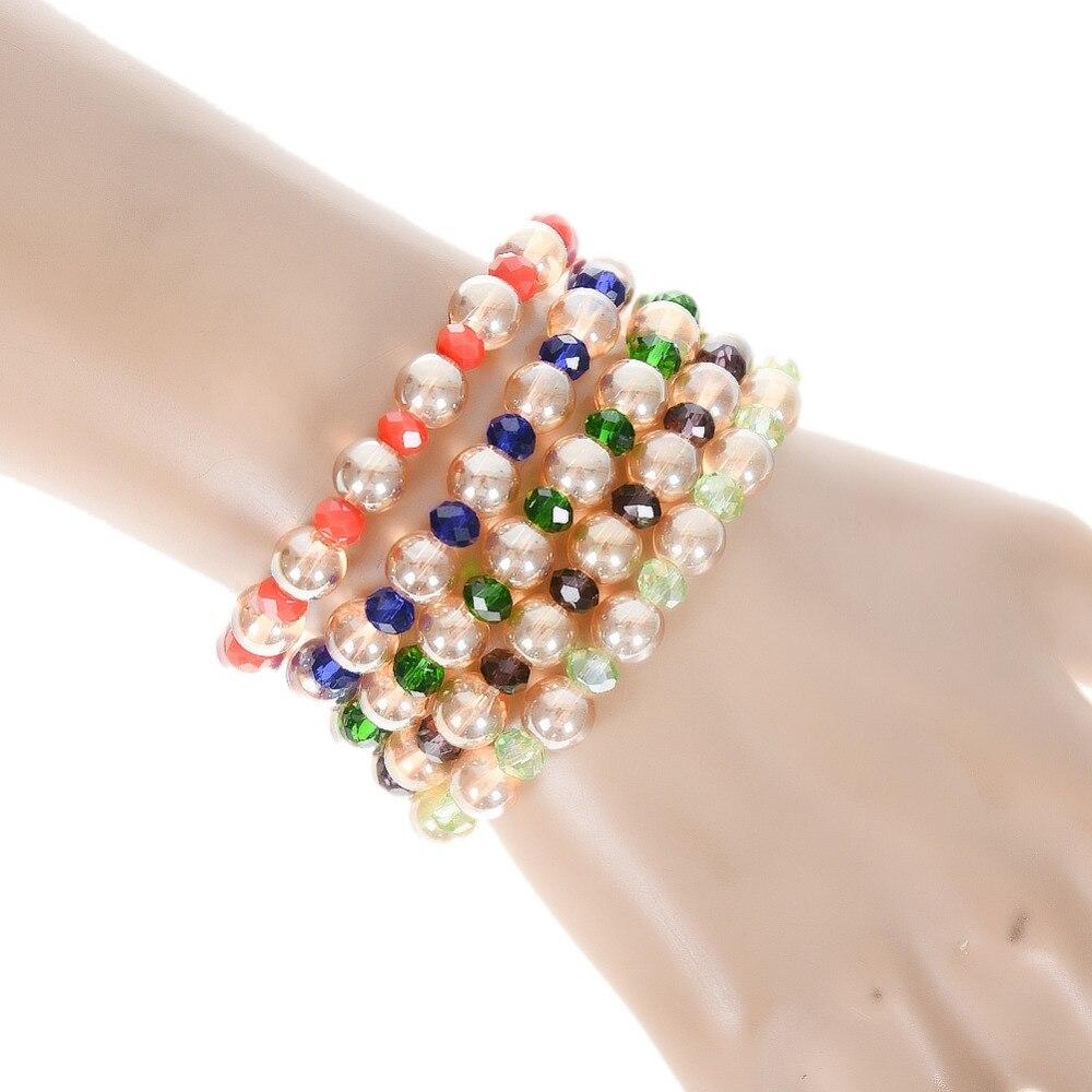 8mm Handmade Mixed Natural Stone Round Beads Stretchy Bracelet Healing Reiki