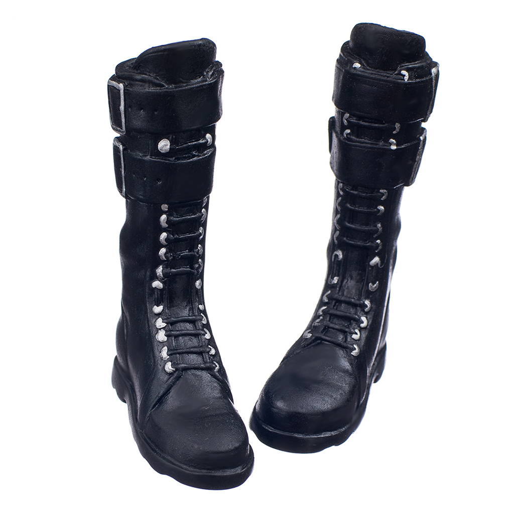 """1//6 Female Lace-up Boots Shoes for 12/"""" Kumik Phicen Hot Toys Action Figures"""