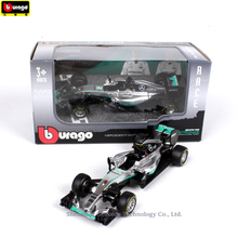 Bburago 1:43 Mercedes Racing AMG NO6 Simulation alloy super toy car model For  with Steering wheel control front wheel steering