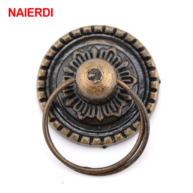NAIERDI 2pcs Retro Bronze Kitchen Cabinet Knobs Cupboard Door Handles Vintage Wardrobe Furniture Handle Jewelry Box Drawer Pulls 96mm bronze drawer kitchen cabinet handle antique brass dresser wardrobe cupboard furniture door handles knobs vintage pulls
