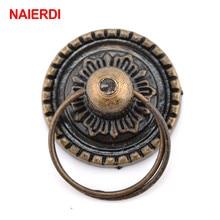 NAIERDI 2 uds Retro bronce armario de cocina perillas tiradores de puertas de armario Vintage armario muebles manija joyero cajón tiradores