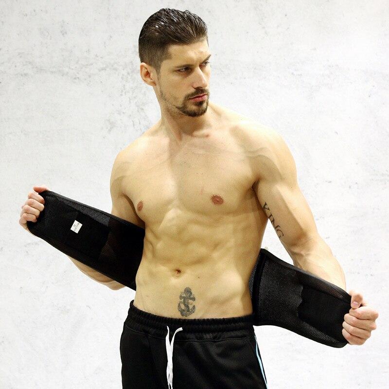 Para adelgazamiento de cuerpo deporte faja cinturón sudor cintura Abdominal entrenador cinturón Fitness deportes de equipo de seguridad de respaldo